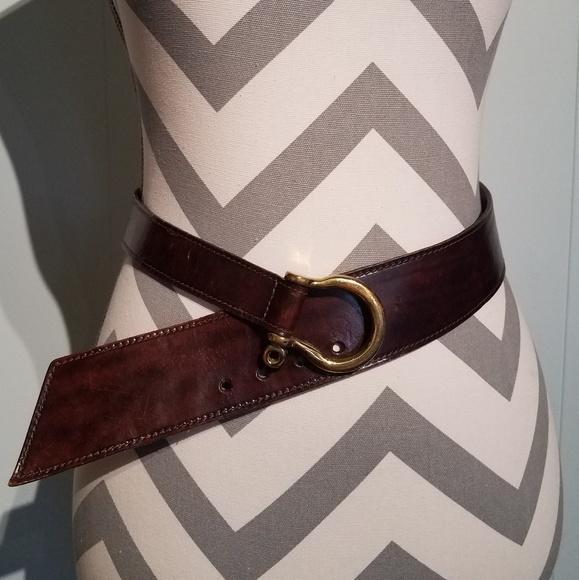 Vintage Horsebit Leather Belt made in USA Sm